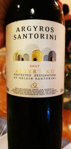 Vinho brando grego da uva Assyrtiko