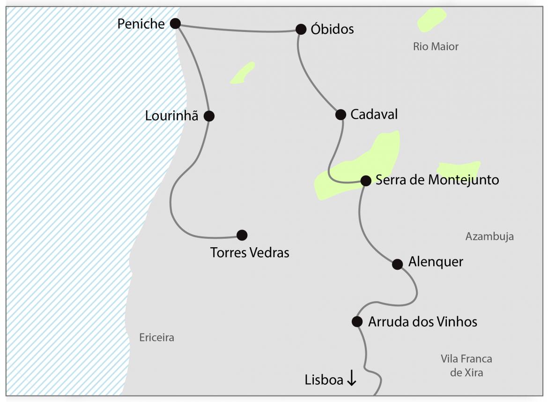 Rota dos vinhos-Lisboa-Torres-Vedras