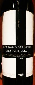 Brunello Di Montalcino Sugarille 2000