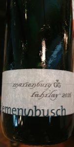 Clemens Busch VDP. Grosse Lage Marienburg Fahrlay Riesling Trocken GG 2016
