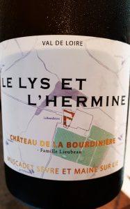 Muscadet Sèvre et Maine Sur Lie Le Lys et L'hermine 2017