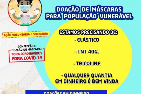 Projeto Ação Voluntária e Solidária - Confecção e doação de máscaras para a população vulnerável contra o COVID-19