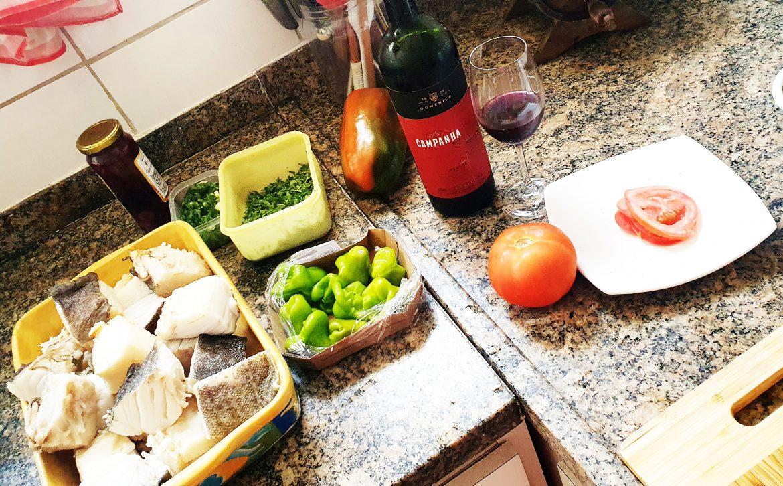 Bacalhau e vinho