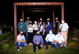 Representantes das vinícolas-crédito Evelyn da Silva